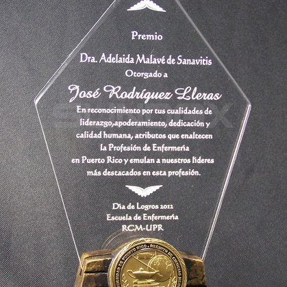 Award with Resin Base